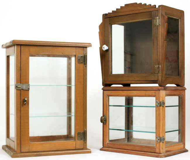 Three Great Vintage Barber Cabinets