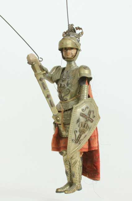 19th Century Italian Or Sicilian Rod Puppet Depicts A