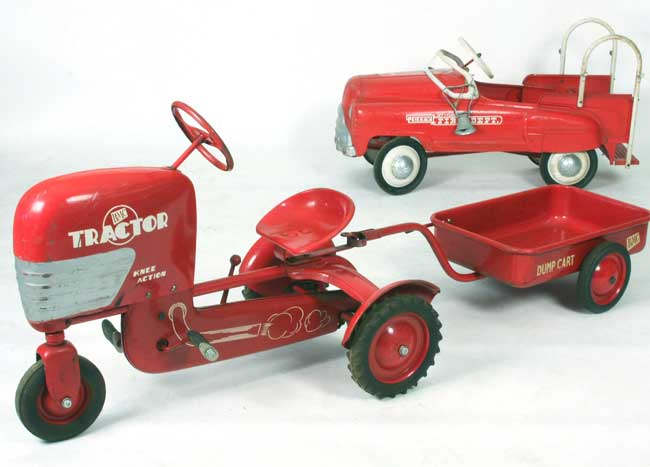 Pedal Cars Left Bmc Tractor Amp Cart Right Jet Flow Fire
